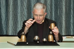 Paul Gertner performing Cups and Steel Balls