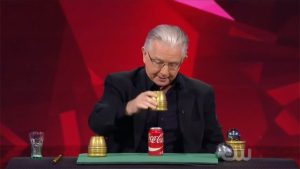 Paul Gertner producing a Coke can on Penn and Teller Fool Us